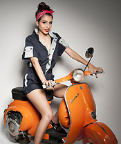 vespa and girl